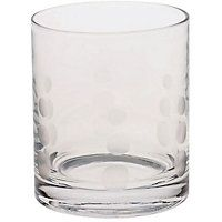 93p  Etched Spot Tumbler Glass
