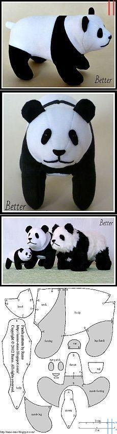 Easy to Make Panda Toy Template