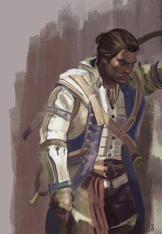 Connor Kenway study by Namecchan.deviantart.com #AssassinsCreed