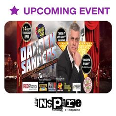"""EVENTS TOMORROW"" STAND-UP COMEDY - DARREN SANDERS IN HUA HIN! The Comedy Club Bangkok is returning to Hua Hin at Red Piano bringing back the legendary comedian and TV chat show host Darren Sanders! Click to read more http://ift.tt/2h23kcA"