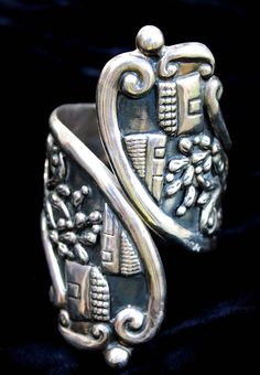 Vintage Clamper Cuff   Alfredo Villasana. Sterling silver.