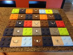 BUILDING BRICKS Coat or Hat Rack ~Choose your own Colors~ Custom Wooden Wall Mounted Hooks, Lego Style, for Boys or Girls