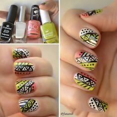 Tribal nail design