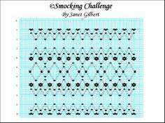 Smocking Challenge plate by Janet Bishop