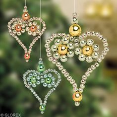 Beaded Hearts PATTERN Make these in our favorite colors and use them for decoration