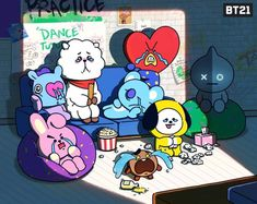 BROWN PIC is where you can find all the character GIFs, pics and free wallpapers of LINE friends. Bts Memes, Bts Cute, Bt 21, Les Bts, Line Friends, Bts Drawings, Bts Chibi, Bts Fans, About Bts