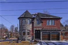 Granite and Brick Opulent #Home for #Sale with a Mahogany Library