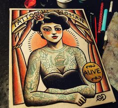 Sideshow Series 5.5x7 by ParlorTattooPrints on Etsy