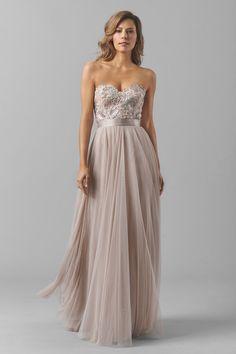 Watters Maids Dress Brescia | DRESS BRESCIA  STYLE 6317I | dress color latte | ribbon color mocha