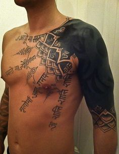Tattoo Tidbits: This is a great piece- A mantra of peace and happiness! Thanks for the submission Tommy-