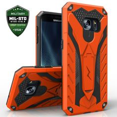 Samsung Galaxy S7 Case, Zizo [Static Series] Shockproof [Military Grade Drop Tested] w/Built-in Kickstand [Galaxy S7 Heavy Duty Case] Impact Resistant. Protective: The Zizo [Static Series] meets Military Grade 810.1-G Compliancy. Certified to protect your phone. Shockproof: The Zizo [Static Series] utilizes Impact Dispersion Technology so your phone doesn't take a beating. Trendy: With a slim design and chic colors, the Zizo Static creates the perfect platform to express your style....