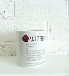 Knitter's Mug  Knitting themed mug  Kelly by KellyConnorDesigns, $19.75