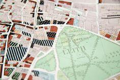 https://flic.kr/p/9nFYjn | Land use survey map of Leith, Edinburgh