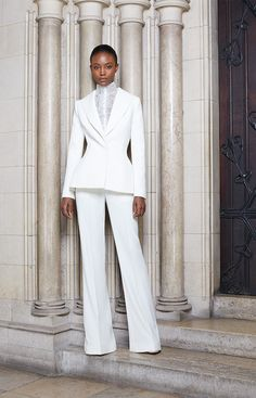Ashi Studio Parigi - Collections Fall Winter - Shows - Vogue. Suit Fashion, Love Fashion, Fashion Outfits, White Tuxedo Wedding, Ashi Studio, Fancy Gowns, Office Fashion, White Outfits, Classy Dress