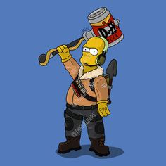 Homer Simpson as the Fortnite Raptor skin.