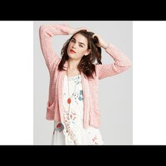 Free People Jaleno Cable Cardigan Perfect for spring! Excellent condition. Free People Sweaters