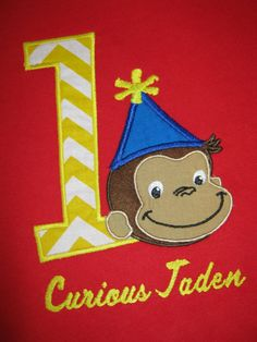 Hey, I found this really awesome Etsy listing at https://www.etsy.com/listing/218510020/curious-george-personalized-birthday