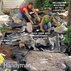 Build a backyard waterfall and stream backyard pond and for Build your own waterfall pond