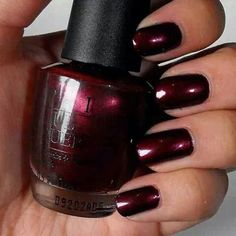 Maroon Color Nail Polish Inspirational 15 Best Opi Nail Polish Shades and Swatches Nails – Cynthia Nail Designs Cute Nails, Pretty Nails, Classy Nails, Popular Nail Colors, Best Nail Colors, Opi Polish, Burgundy Nail Polish, Maroon Nails Burgundy, Burgundy Colour