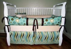 ETHAN 5 piece bedding set  Custom baby by BloomingBabyBedding, $259.00