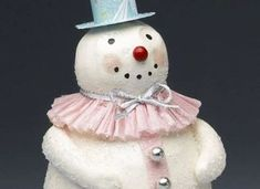 She Used Paper Clay To Make The CUTEST DIY Snowman Decoration! -  http://www.gottalovediy.com/wp-content/uploads/sites/1137/2015/12/paperclaysnowman2.jpg - This is one of the cutest DIY snowman decorations I have seen and have seen similar items in retail stores at ridiculous prices.   - http://www.gottalovediy.com/diy-snowman-decoration/