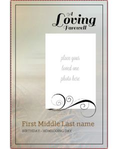 In Loving Memory Printable Invitation Template Customize Add