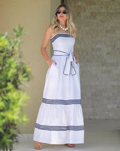 Ideas For Fashion Clothes Women Style Moda Dress Outfits, Casual Dresses, Fashion Dresses, Summer Dresses, Long Dresses, Fashion Clothes, Dress Skirt, Dress Up, Schneider