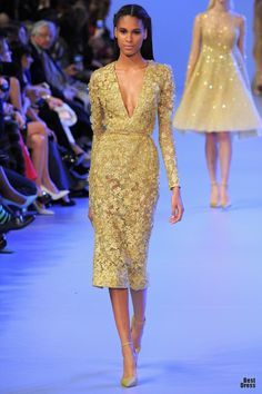Elie Saab 2014 - nevver like plunging neckline, but this one seems awesome
