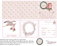 Free-printable Baby Announcement Kit for a little Girl