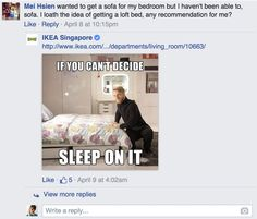 Ikea Responds to Customer Questions on Facebook With Silly Puns (13 Pics)