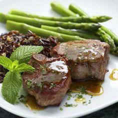Lamb Chops with Mint Pan Sauce