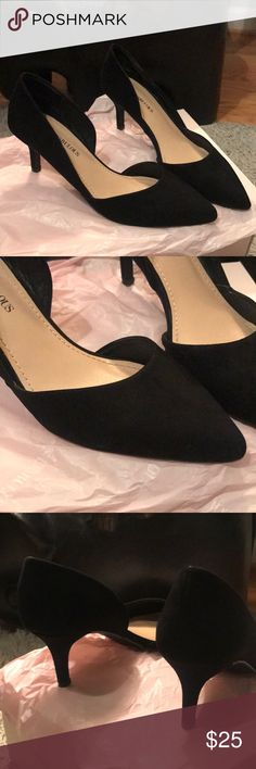 Lucinda pumps Worn once, in excellent condition purchased from just-fab 2 inch heels JustFab Shoes Heels