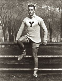 Possibly a Yale crew member. Yale University - New Haven, Connecticut (Year unknown, most likely circa 1920s)