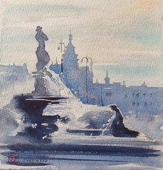 Art Of Watercolor: Helsinki, All Colors Of The Autumn