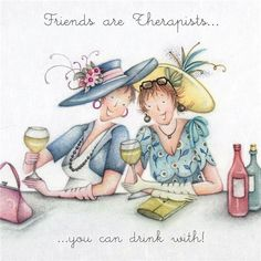 Cards » Friends are Therapists » Friends are Therapists - Berni Parker Designs