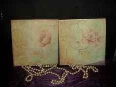 falikép, ga alapanyaggal, képpel díszítve, lakkozva. 18x18 cm, szett. wall art, g decorated with a picture, lacquered. 18x18 cm, set. My Job
