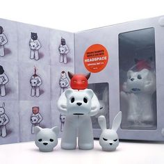 RESTOCKED: @lukechueh Headspace sets by @munkykingtoys - in stock and ready to ship! $60 ea comes with 3 heads!