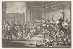 Jan Luyken | Oploop en strijd in de tempel te Jeruzalem, Jan Luyken, 1704 |