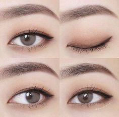 Koreanische Make-up-Tipps: Matte Lippenstifte können Korean Makeup Look, Korean Makeup Tips, Asian Eye Makeup, Korean Makeup Tutorials, Natural Eye Makeup, Ulzzang Makeup Tutorial, Korean Makeup Tutorial Natural, Simple Eyeliner Tutorial, Eye Tutorial
