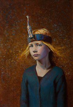 Seth Haverkamp, Her Giraffe, oil, 36 x 24.
