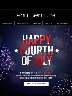 Up to 70% Off Last Chance Products (plus free shipping!) - Shu Uemura