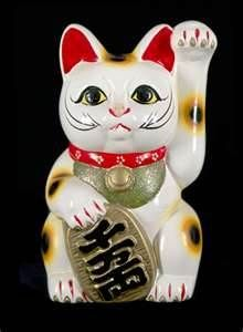 Chinese Good Luck cat -- I just love these