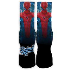 ddf818b6bbc95e Rufnek Hardware Custom Spiderman Socks – Exquisite Streetwear and Sneaker  Tees Online Clothing Store