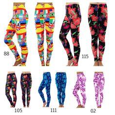 Printed Leggings Fashion Women's Pattern Print by TDcollections, $15.99 Print Leggings, Tight Leggings, Pattern Print, Print Patterns, Leggings Fashion, Color Patterns, Harem Pants, Tights, Printed