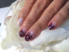 gel nail hand paint