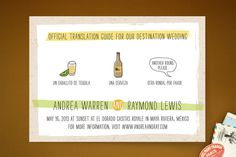 Translation Destination Wedding Invitations by Erin Pescetto at minted.com