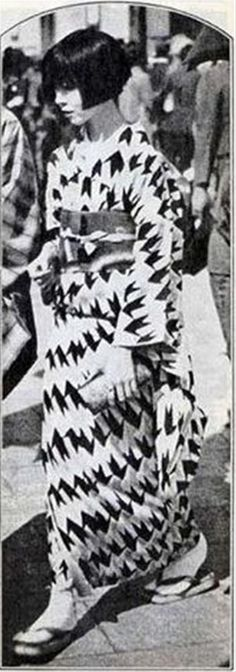 """Japanese """"moga"""" (modern girl) 1920's"""