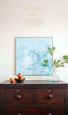 Easy DIY abstract art tutorial The Painted Hive Picasso Paintings, Cool Paintings, Abstract Paintings, Diy Artwork, Diy Wall Art, Diy Canvas, Canvas Art, Painting Canvas, Diy Painting