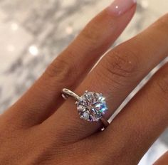 1.04 carat Round Brilliant Cut G SI2 Diamond Solitaire Engagement Ring by DiamondMarket on Etsy