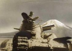 A Type 97 chi-ha is seen at the IJA Mount Fuji training area, 1940. Submitted by @british-eevee